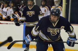 Captain Nico Vecchio of the Bobcats – courtesy of @pittgbghockey