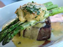 filet with crab