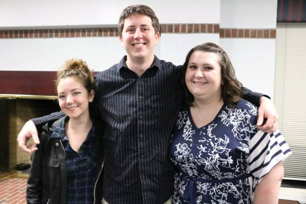 Writing Award Winners: Shannon Sankey, poetry; Kyle Holland, fiction; and Michelle Boring, nonfiction.