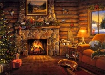 Cozy Christmas Scene