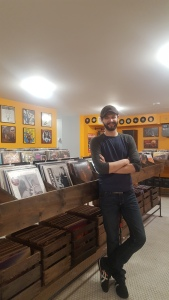 Tommy Medley, co-owner of White Rabbit Cafe and Rabbit Hole Records. Photo by Gretchen Uhrinek