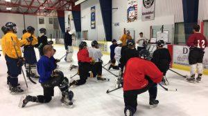 The team at practice. Photo by Bobcats Hockey Snapchat